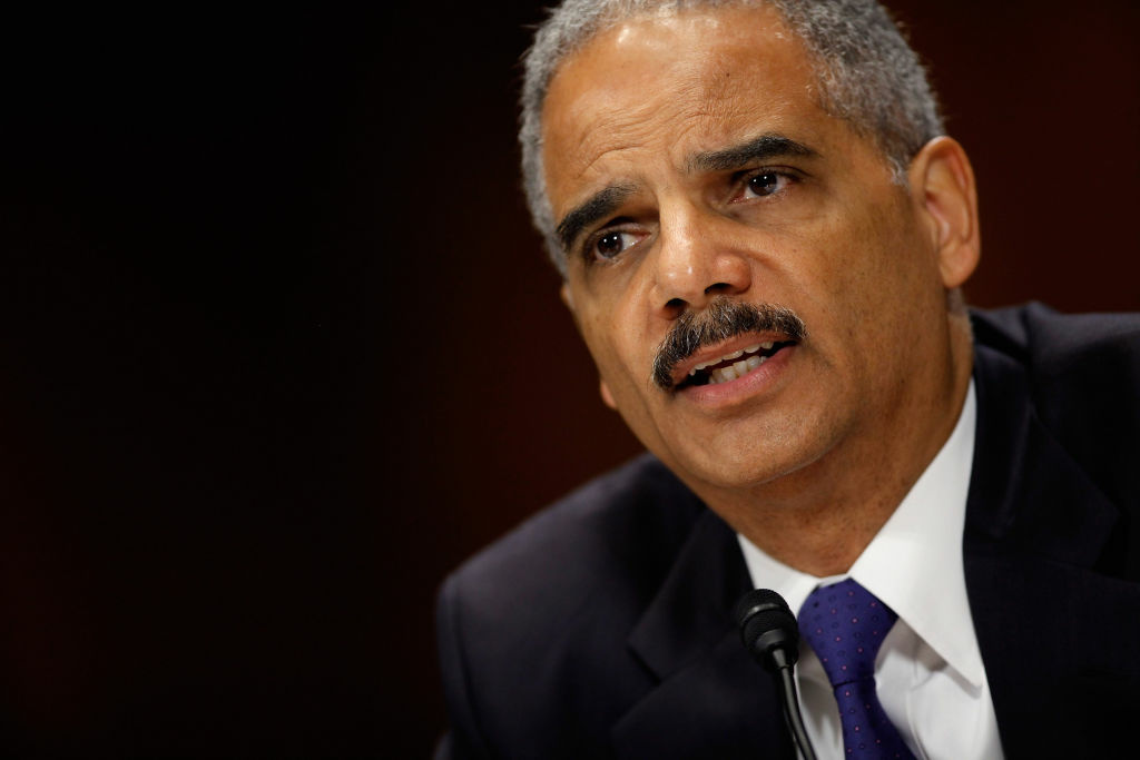 U.S. Attorney General Eric Holder answers questions while testifying before the Senate Judiciary Committee on Capitol Hill June 12, 2012 in Washington, DC. Holder faced questions from senators about the ongoing Operation Fast and Furious investigation.