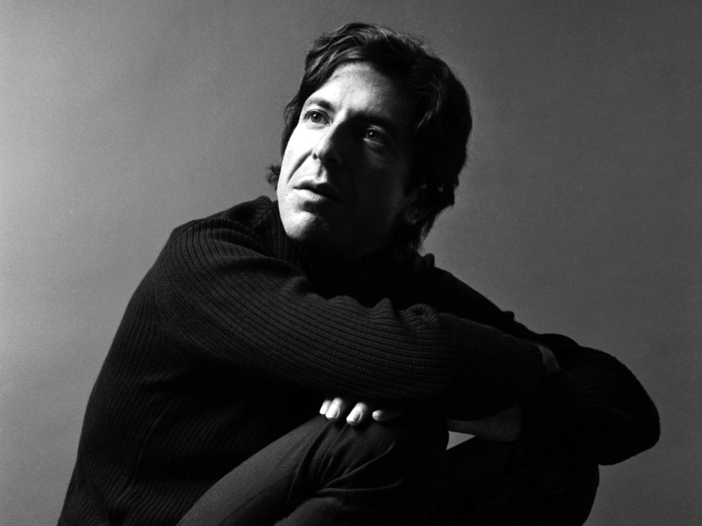 Portrait of singer Leonard Cohen, early 1970s.