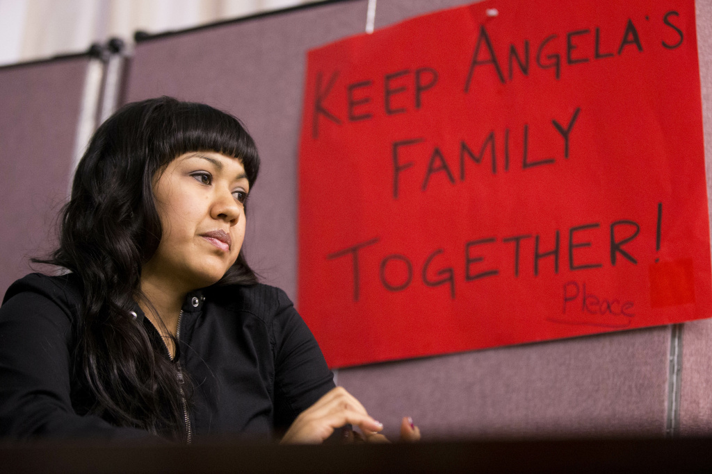Angela Navarro, who is facing a deportation order issued 10 years ago, has found sanctuary at a Philadelphia church.