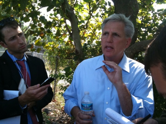 House Majority Whip Kevin McCarthy (R-CA), the four-term congressman from Bakersfield, will face Texas Rep. Pete Sessions in the contest to become House majority leader.