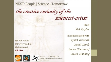 NEXT: the creative curiosity of the scientist–artist