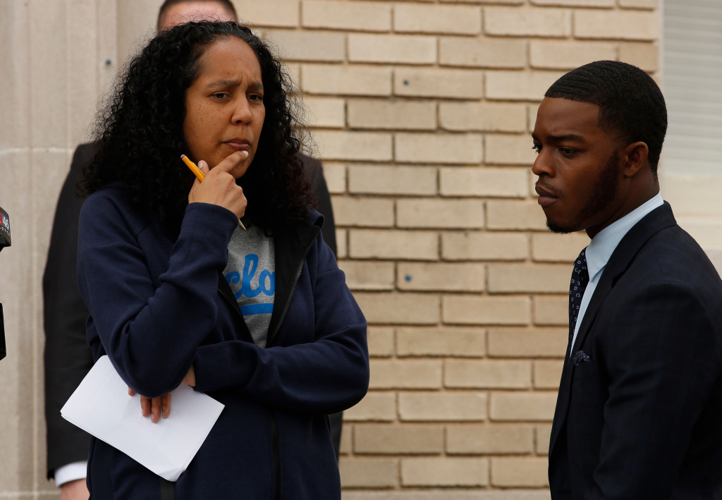 Gina Prince-Bythewood and Stephan James on the set of the Fox series,