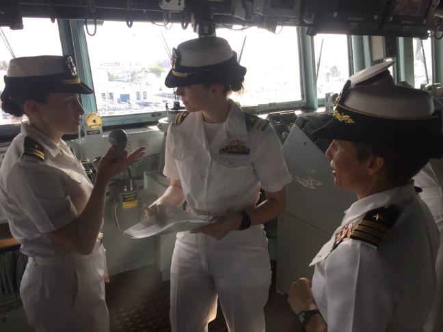 Watchstanders onboard USS Decatur