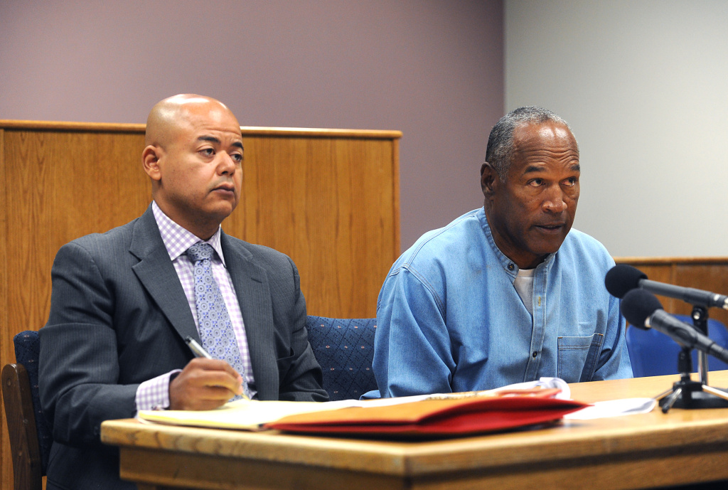 O.J. Simpson attends a parole hearing at Lovelock Correctional Center on July 20, 2017 in Lovelock, Nevada.
