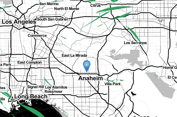 The earthquake and numerous aftershocks seen in the La Habra area since Friday night, March 28, 2014, as of Saturday afternoon.