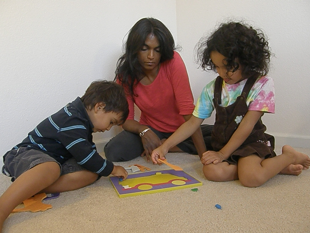 Independent filmmaker, Ramona Persaud, home-schools her 2 year old son, Rohan, and 5 year old daughter, Anjali. Her latest film,