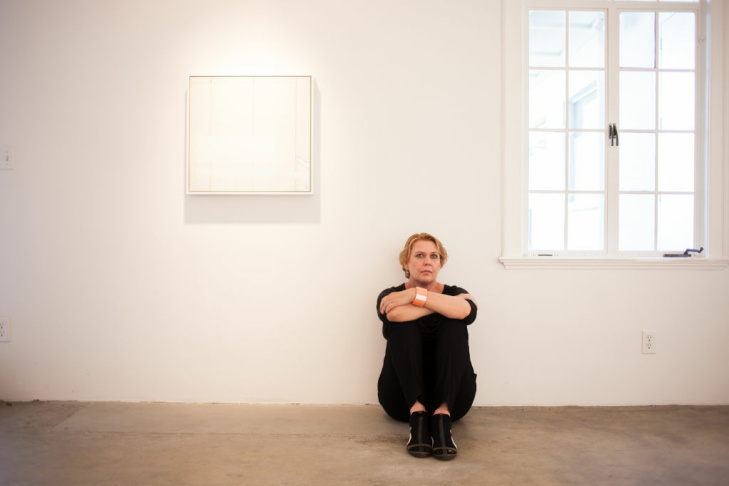 Artist/Photographer Uta Barth recipient of 2012 MacArthur Fellowship in the Arts photographed at her residence, studio and at her gallery, 1301 PE Gallery. Photographed on September 24, 2012 in Los Angeles, CA.