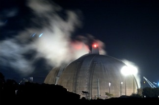 Steam rises between reactors 2 and 3 at the San Onofre Nuclear Generating Station near San Clemente, CA.