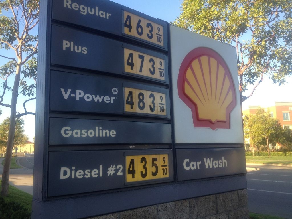 Gasoline prices in Southern California are dropping slowly after rising to a record $4.70 a gallon.