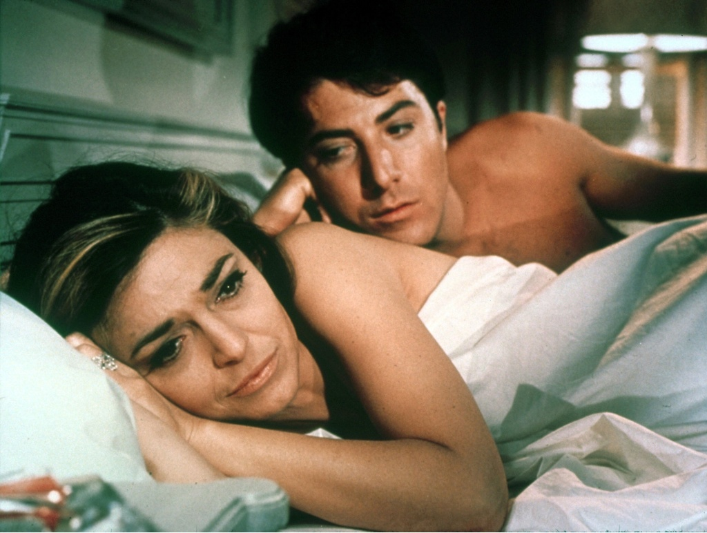 Anne Bancroft and Dustin Hoffman in Mike Nichols' THE GRADUATE (1967).