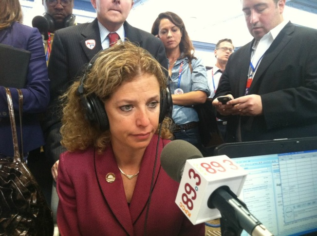 Congresswoman Debbie Wasserman Schultz (D-FL) joins Larry Mantle on AirTalk at the Republican National Convention on Aug. 30, 2012.