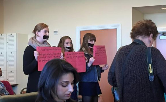 February 24, 2015 - Protestors at the National Conference on Campus Sexual Assault & Violence, hosted by UC Berkeley.