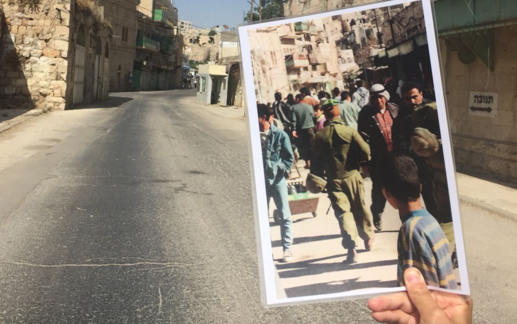 The IfNotNow activists who walked off their trip visited Hebron, which appeared deserted. (Credit: Sophie Lasoff)