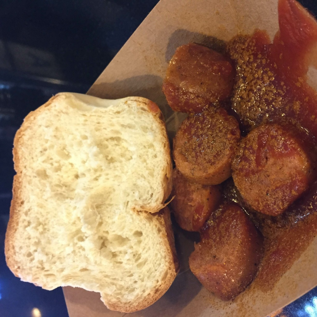 Berlin Currywurst at Grand Central Market was started by a Berlin native who uses family recipes.