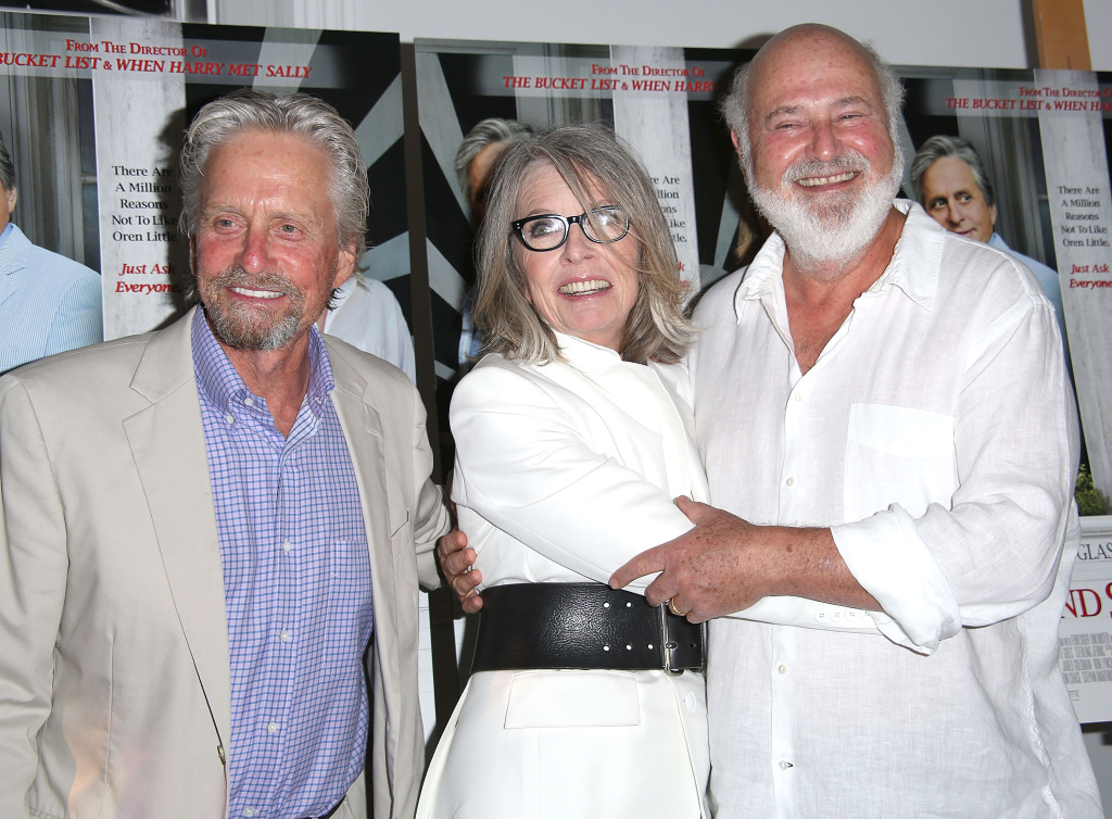 Michael Douglas, Diane Keaton, and Rob Reiner attends the