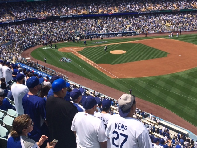 Inside Dodger Stadium on Tuesday, April 12, 2016.