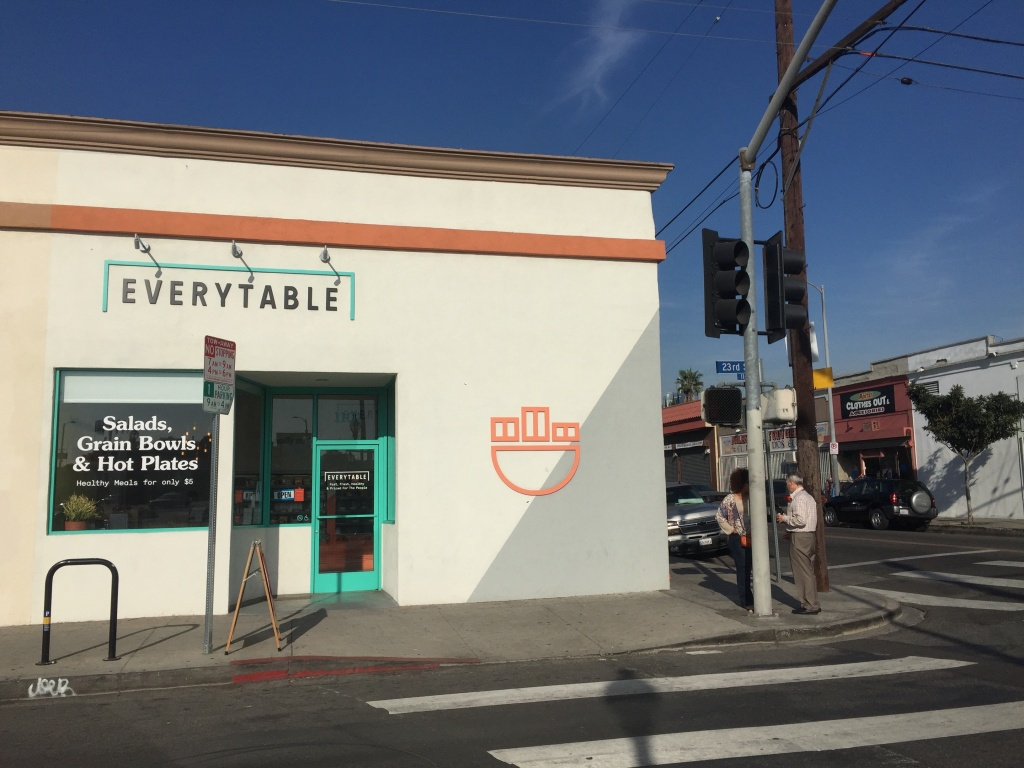The first location of Everytable opened in South L.A. in 2016, on the corner of 23rd Street near the University of Southern California.