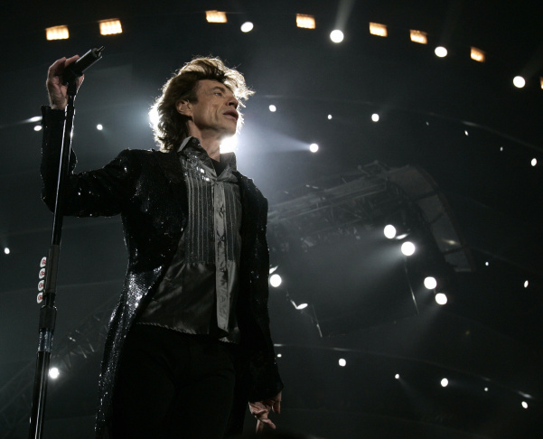 Mick Jagger performs during the Rolling
