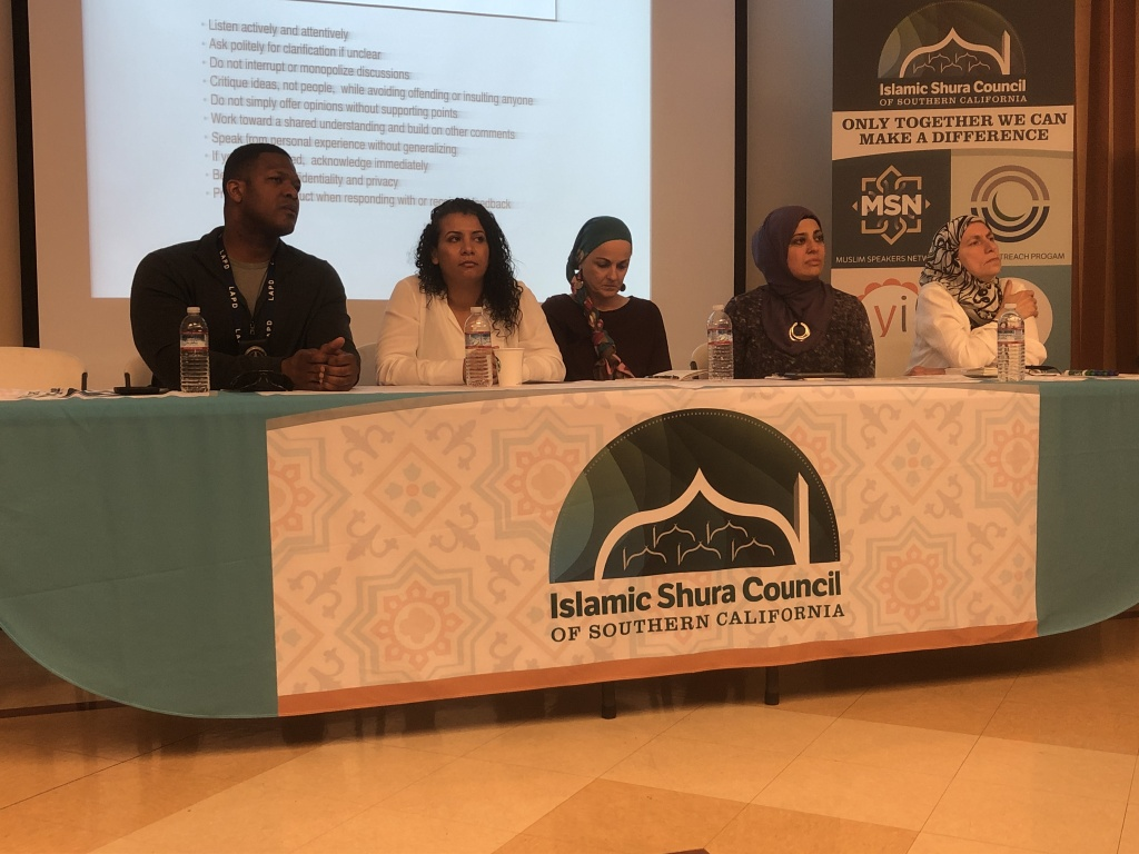 The security conference in Anaheim for Islamic institutions included speakers from law enforcement, mental health and civil rights advocacy.