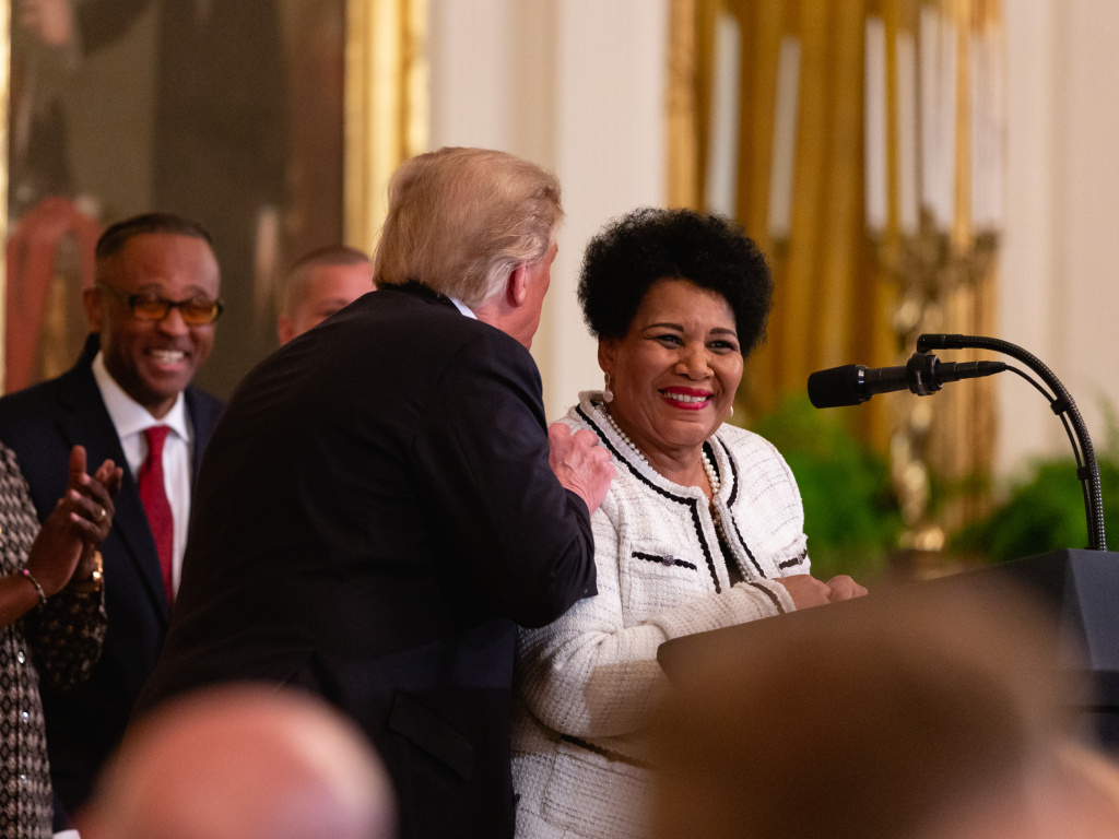 Alice Marie Johnson, who had her sentence commuted by U.S. President Donald Trump.