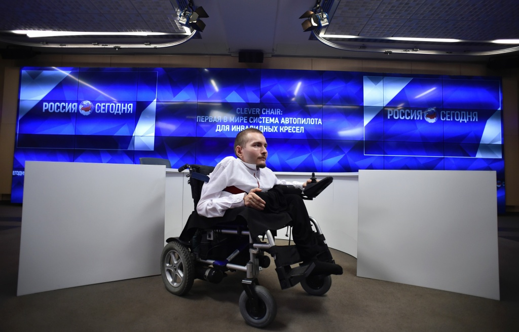 Valery Spiridonov, a 31-year-old Russian graphic artist, looks on during a press conference on