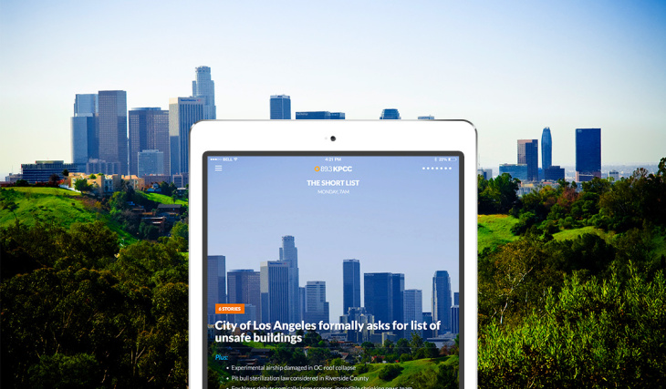 KPCC announced the launch of its new app for iPad, which gives you a new way to access KPCC's news and information.