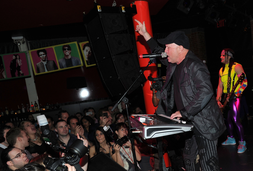 Singer Mike Score of Flock Of Seagulls attends the Back to the Eighties 3 Year Anniversary with Rubix Kube at the Canal Room on March 23, 2012 in New York City.