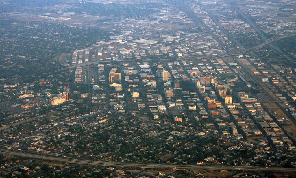 View of downtown Fresno, California.