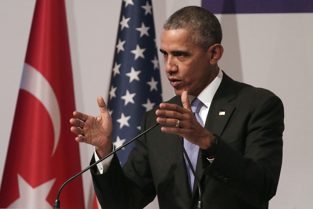 U.S. President Barack Obama speaks to the media during his closing press conference on day two of the G20 Turkey Leaders Summit on November 16, 2015 in Antalya, Turkey. World leaders will use the summit to discuss issues including, climate change, the global economy, the refugee crisis and terrorism. The two day summit takes place in the wake of the massive terrorist attack in Paris which killed more than 120 people.  (Photo by Chris McGrath/Getty Images)