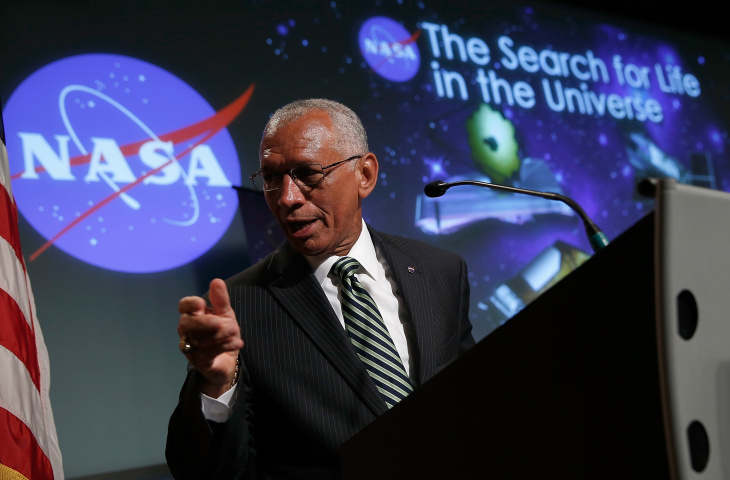 NASA Administrator Charles Bolden speaks at a press conference in this July 14, 2014 file photo taken in Washington, DC. On Thursday, July 9, 2015, Bolden named the four astronauts who will fly on capsules built by SpaceX and Boeing. These astronauts will be the first humans launched from Cape Canaveral, Florida, since the shuttles retired in 2011.