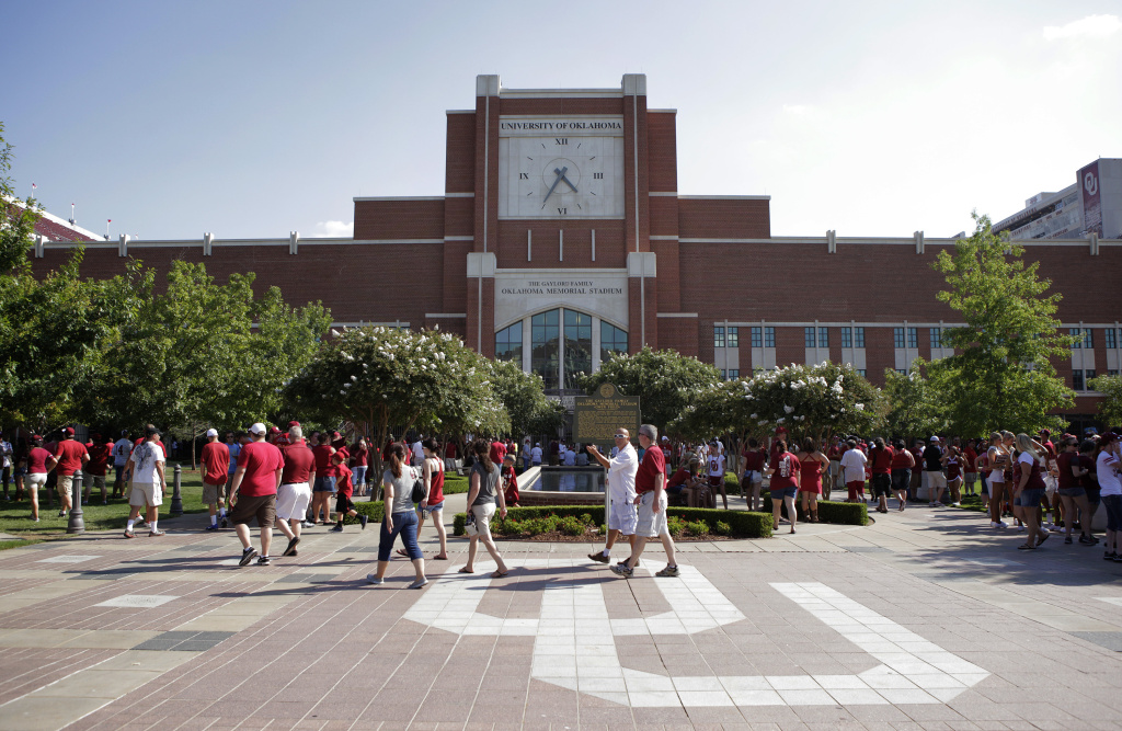 A general view of the north end of the stadium before the game against the Louisiana Monroe Warhawks August 31, 2013 at Gaylord Family-Oklahoma Memorial Stadium in Norman, Oklahoma.