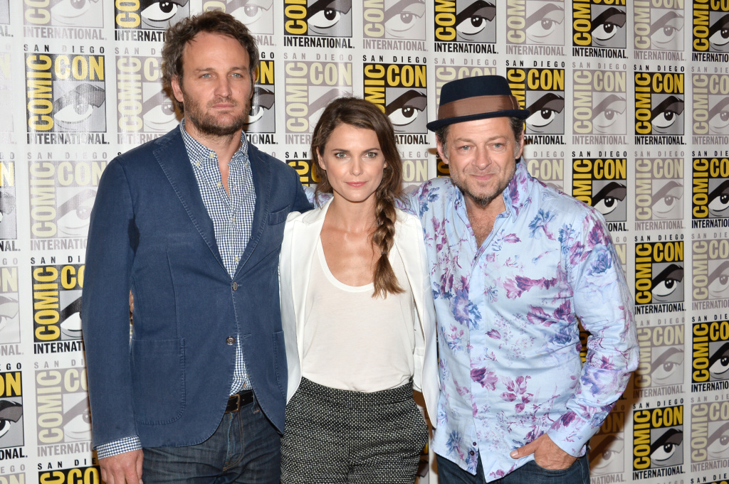 Actors Jason Clarke, Keri Russell and Andy Serkis attend thet