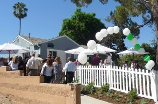 Supporters gather to celebrate the opening of Linden House, a new transitional housing program for young adults ages 18 to 24 in Burbank.