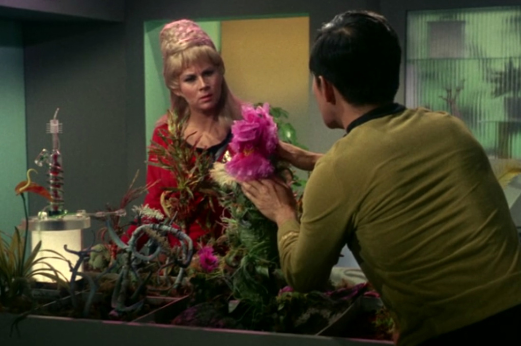 Baker played the plant in The Man Trap, the first episode of Star Trek that aired.