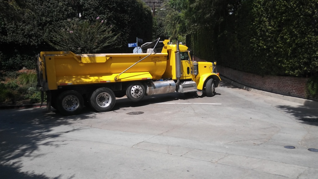 Neighbors complain of safety and pollution issues created by the truck traffic.