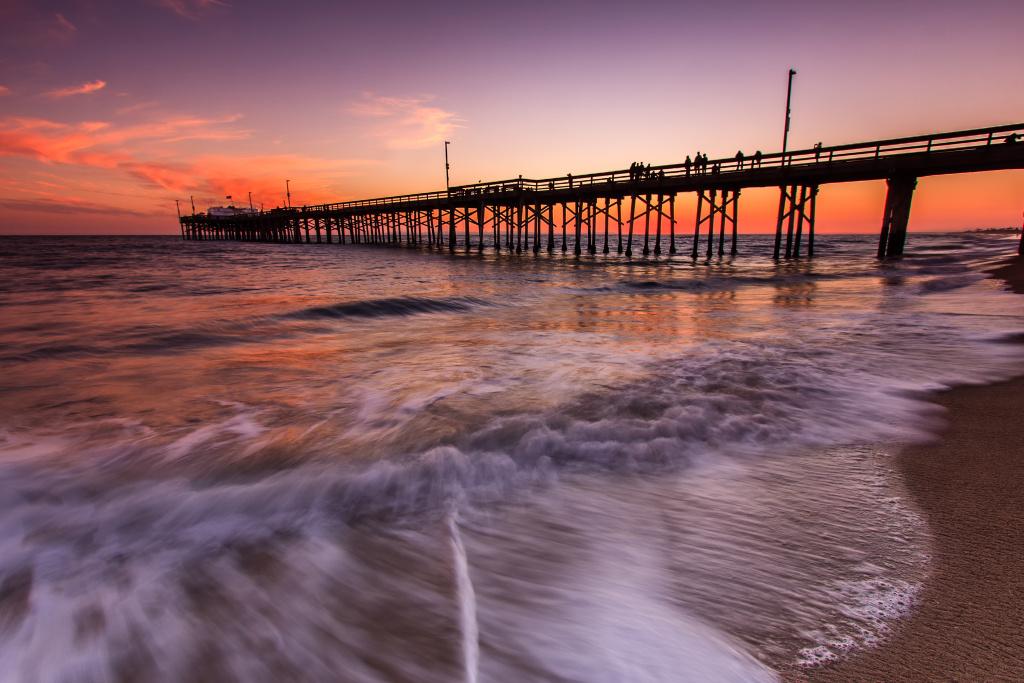 Balboa Pier, California.