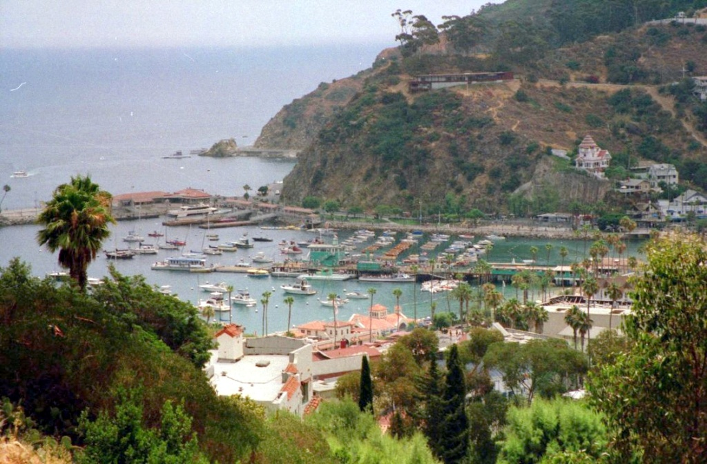 A view from Catalina Island, looking over Avalon.