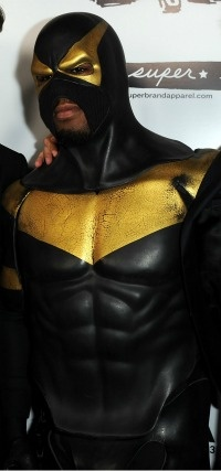 Superhero Phoenix Jones at the premiere of IFC Midnight's