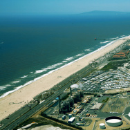An area of beach in Huntington Beach where Poseidon has proposed a desalination plant