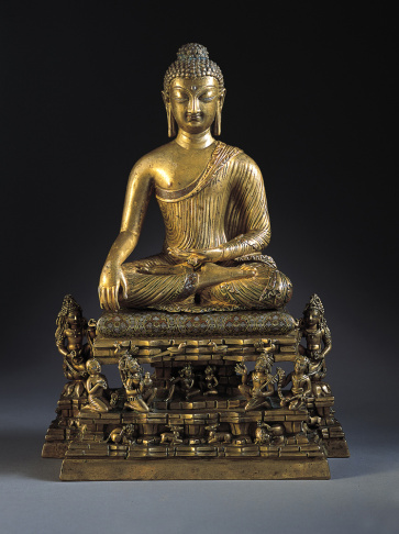 Buddha and Adorants on the Cosmic Mountain