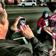 "Without the fan, photos with Angelyne are much more expensive. She says she doesn't want to ""blow her was"" by giving everything away at once."