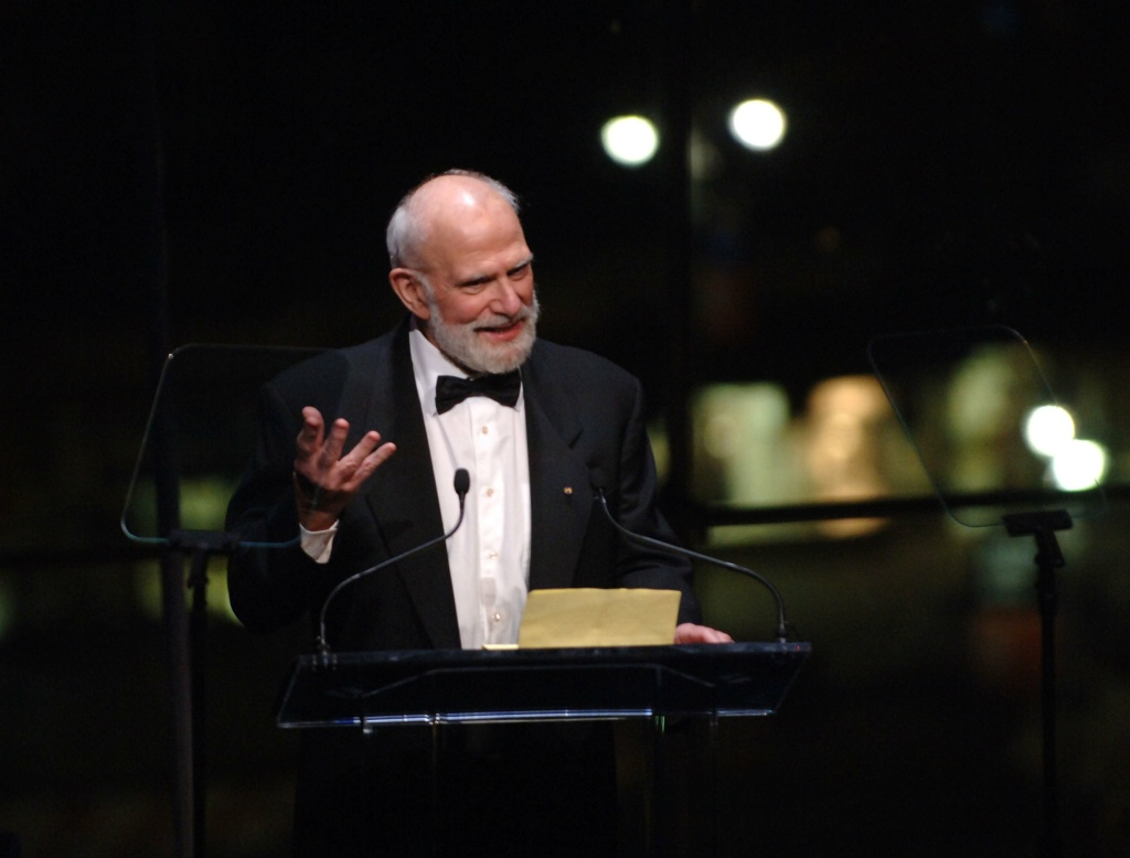 Dr. Oliver Sacks speaks at the Music Has Power Awards Benefit, New York City, 2006.