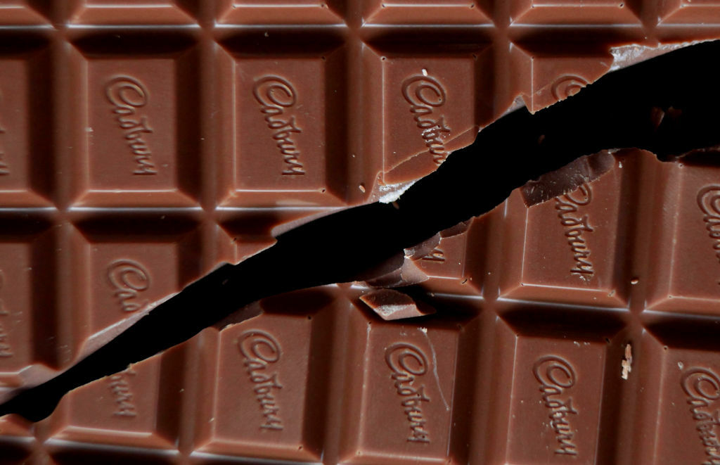 Cadbury has invented a melt-resistant chocolate that can withstand 104 degrees Fahrenheit for three hours.