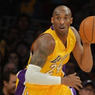 Kobe Bryant of the Los Angeles Lakers drives against the Memphis Grizzlies.