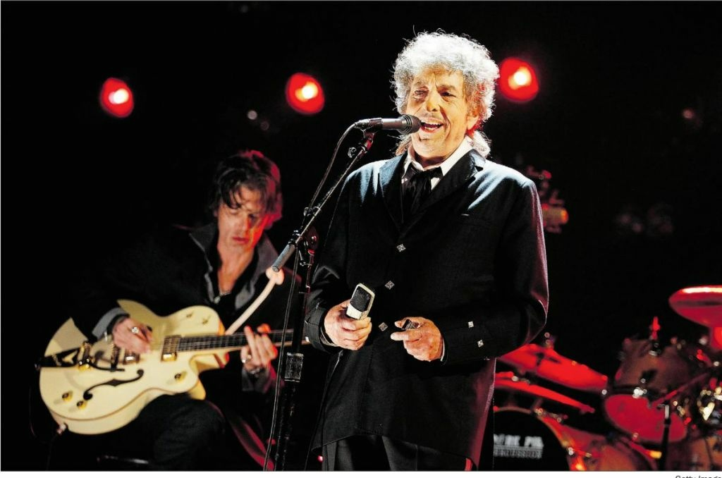 In this Jan. 12, 2012 file photo, Bob Dylan performs during the 17th Annual Critics' Choice Movie Awards in Los Angeles.