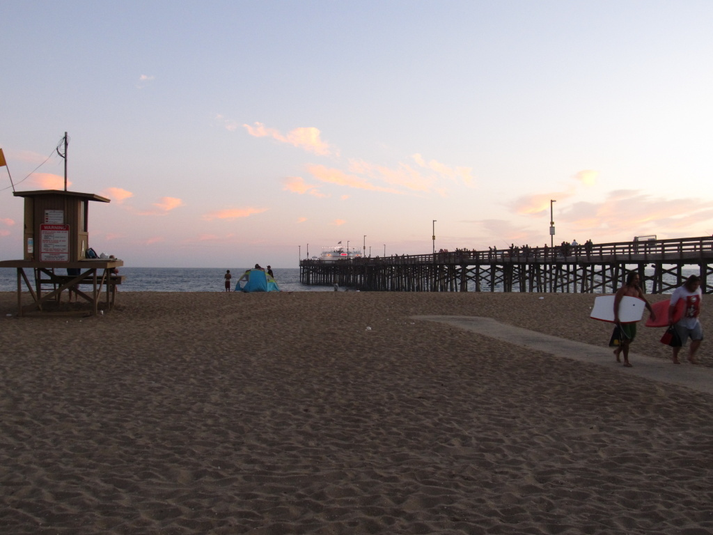 The Balboa Pier in Newport Beach, Orange County, California.