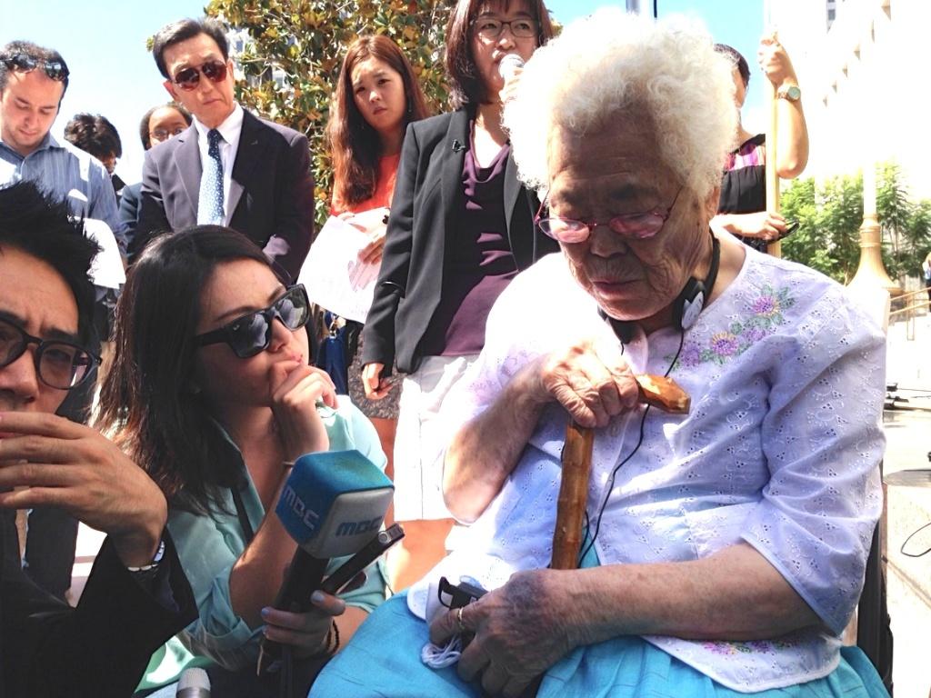 Ok-Seon Lee, 87, is one of 54 surviving 'comfort women' in Korea, according to the Korean-American Forum of California.