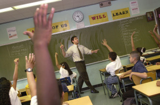 Teacher David Nieder of 'Knowledge is Power Program' (KIPP) Academy takes questions from his class.