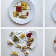 thanksgiving dinner plates art