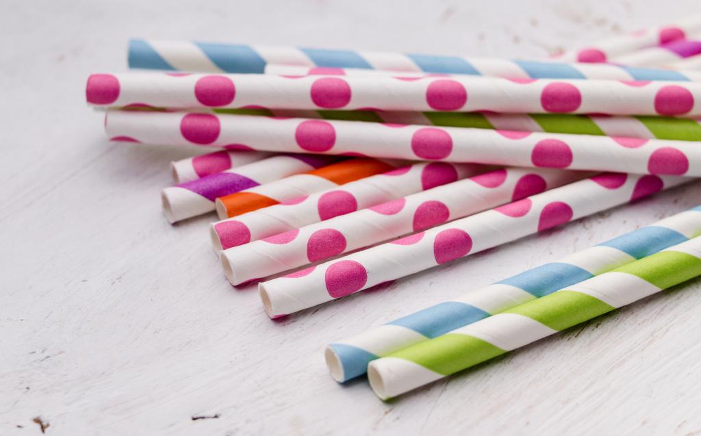 Paper straws.